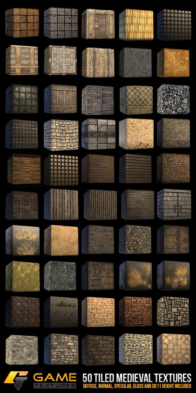 Medieval Themed Game Texture Pack - CG Cookie