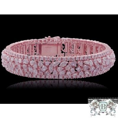 21.99 CARAT PINK DIAMOND BRACELET...that's so pretty!!