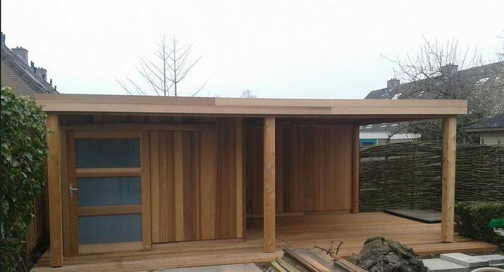 modern tuinhuis plat dak - Google zoeken