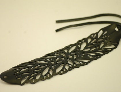 Lace bracelet - made from Bike inner tube