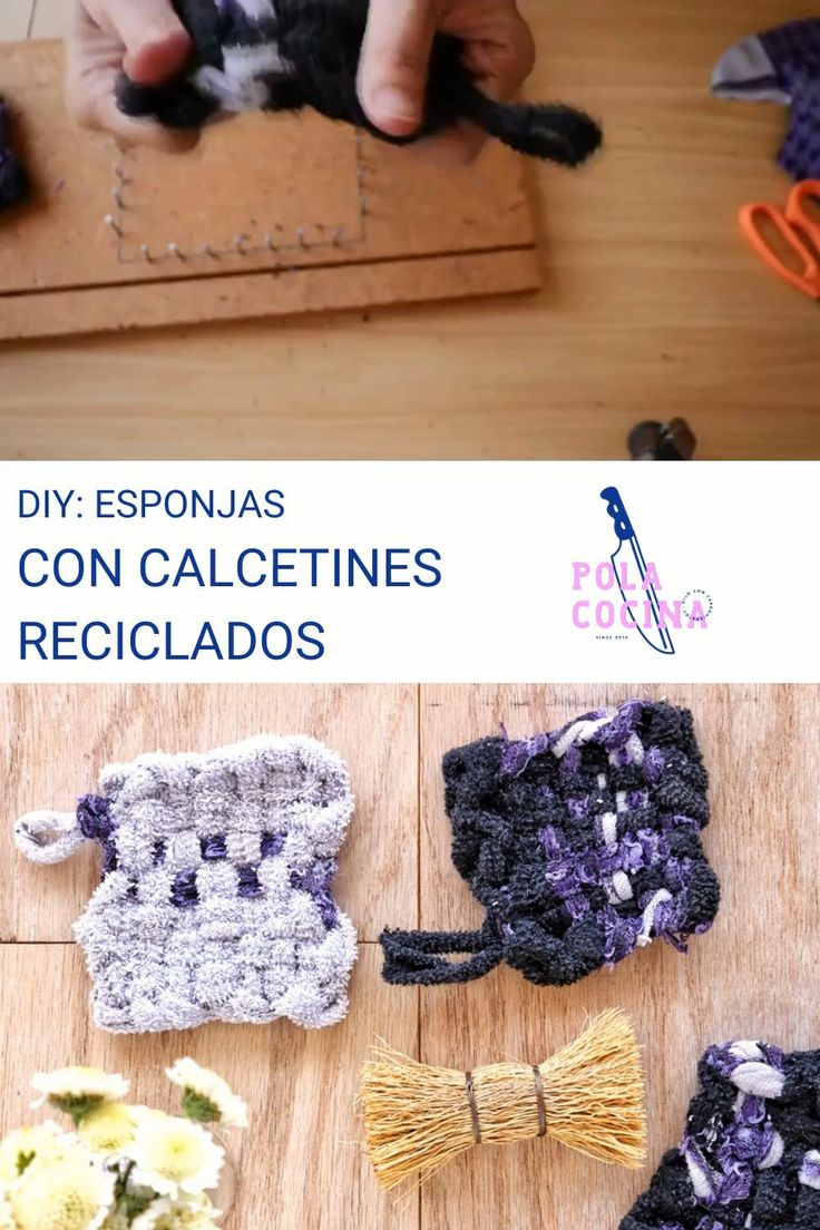 Recicla tus calcetines sin pareja para hacer estas esponjas japonesas Zero Waste, Crochet Necklace, Crochet Hats, Diy, Craft, Create, How To Make, Recycled Crafts, Anklets