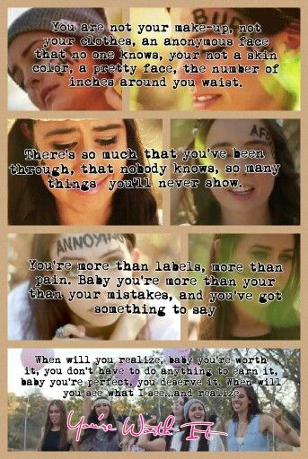 My favorite song RIGHT NOW! You're Worth It by #Cimorelli. If you repin pkease give credit. Made by @Gabbyabby2000