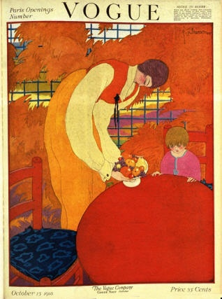 Vogue - 15 October 1918: George Lepape, Art Prints, October 1918, Condé Nast, Colors Combi, Covers Art, Nast Collection, Vintage Vogue, Vogue Covers