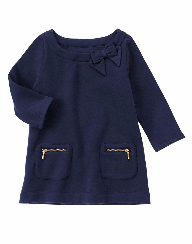 Gymboree Girls Size 4 Gym Navy Blue Zip Pocket Fleece Tunic NWT #Gymboree