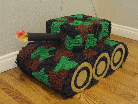 Piñata~Military Tank Pinata by PinatasGoneWild on Etsy