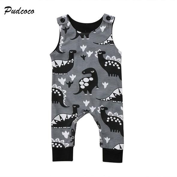 Newborn Baby Boys Girls Cute Romper Jumpsuit Cotton Sleeveless For 0-24M RA78