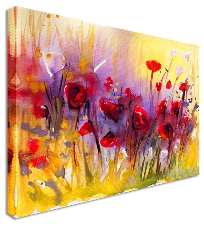 poppies sun wash by water colour art canvas prints canvas art cheap prints by www