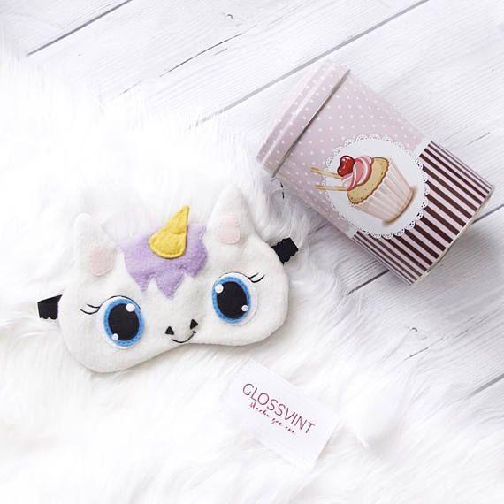 "20,00 US$ Sleep mask ""Unicorn"" Funny Cute Unicorn Etsy Маска для сна"