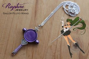 Sailor Pluto Wand Pendant Inspired by Sailor Moon