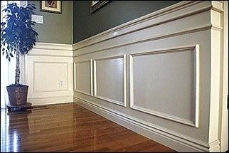 Moldings wainscoting and wall molding on pinterest for Arts and crafts wainscoting