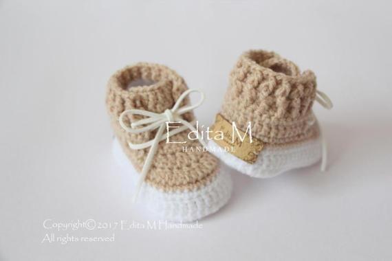 Crochet baby booties crochet baby shoes unisex baby booties