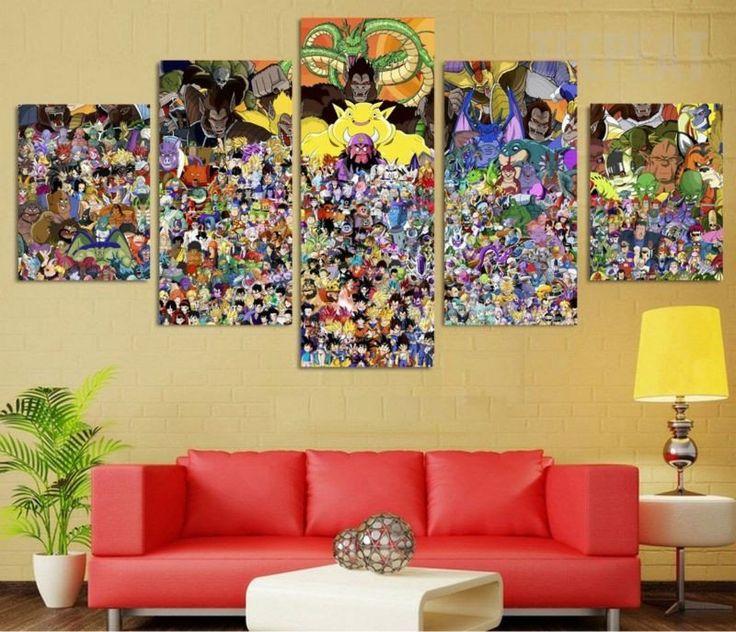 37 best Dragon Ball Z Art Decor images on Pinterest | Painting ...