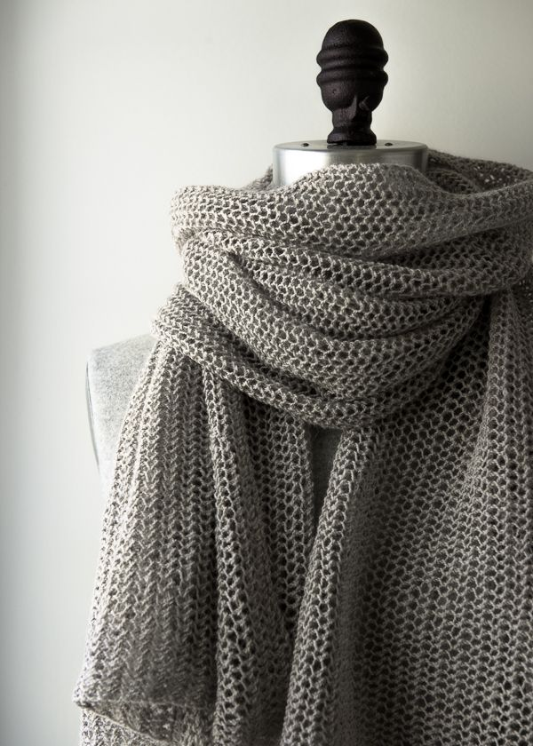 Open air wrap in Linen Quill - free pattern from Purl Soho with only one…