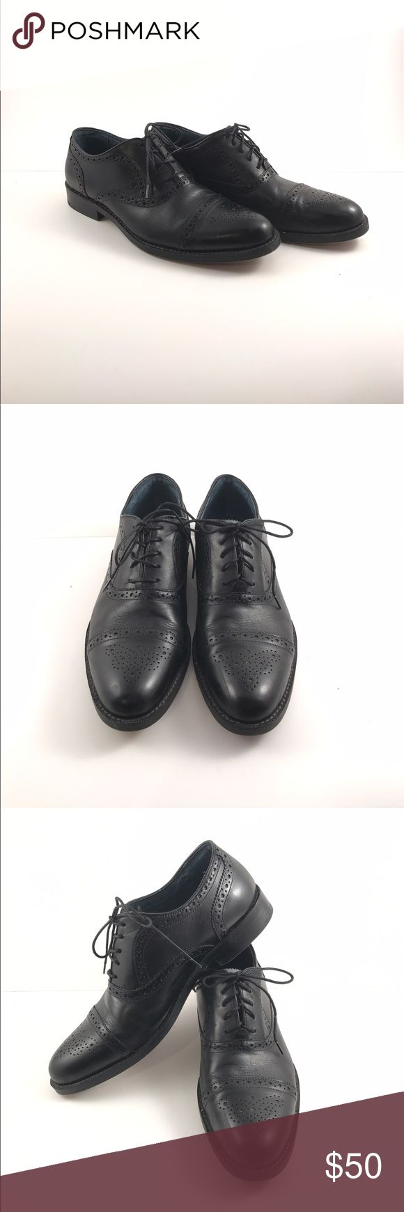 Aston grey leather Oxford shoes lace up wingtip Men's black Aston Grey gable black pebbled leather Oxford shoes Lace up wing tips. Men's size 9.  Excellent pre-owned condition.  Most visible  wear is to the soles- see pictures for condition Aston Grey Shoes Oxfords & Derbys