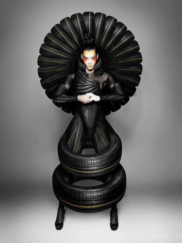 グッドイヤー・ダンロップ、Lady Gagaも真っ青の超奇抜な『タイヤ・クチュール』広告 | ブログタイムズ BLOG 【海外 広告事例】