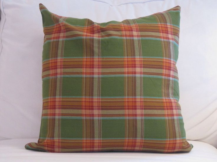 Holiday Plaid Pillow, Green Pillow Cover,Chair Pillow,20 in decorative pillows,Pillows,Traditional Pillows, Pillow Covers, Cushions by FineFreshDesign on Etsy https://www.etsy.com/listing/181213742/holiday-plaid-pillow-green-pillow