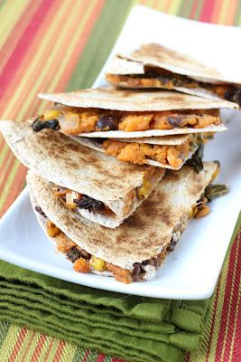 Healthy Girl's Kitchen: Winner Announced and Sweet Potato and Kale Quesadillas