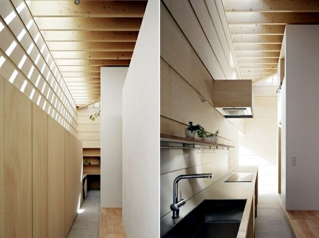House with wooden ceiling plays with light and shadow