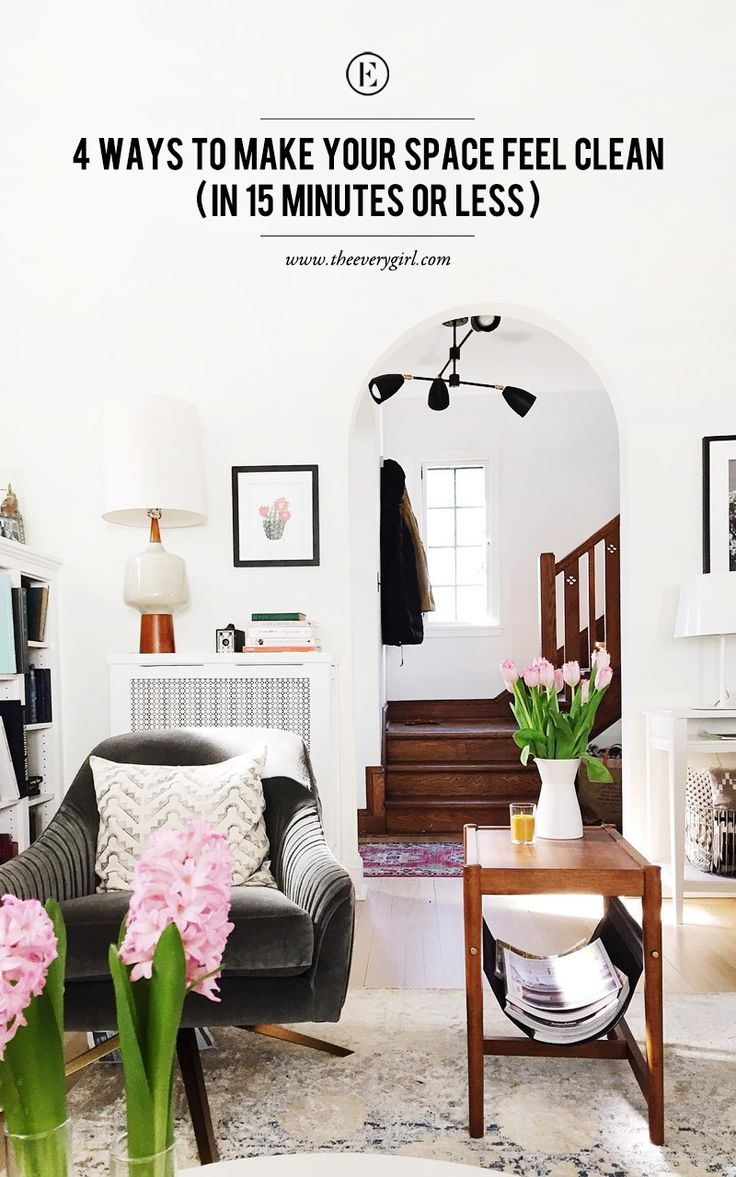 How to clean your living room in 5 minutes - 4 Ways To Make Your Space Feel Clean In 15 Minutes Or Less Hampton Styleclean Livinghow