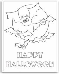 free halloween coloring pages - Cute Halloween Bat Coloring Pages