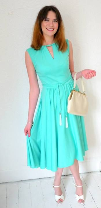 gorgeous mint/aqua dress with beaded tassels £35