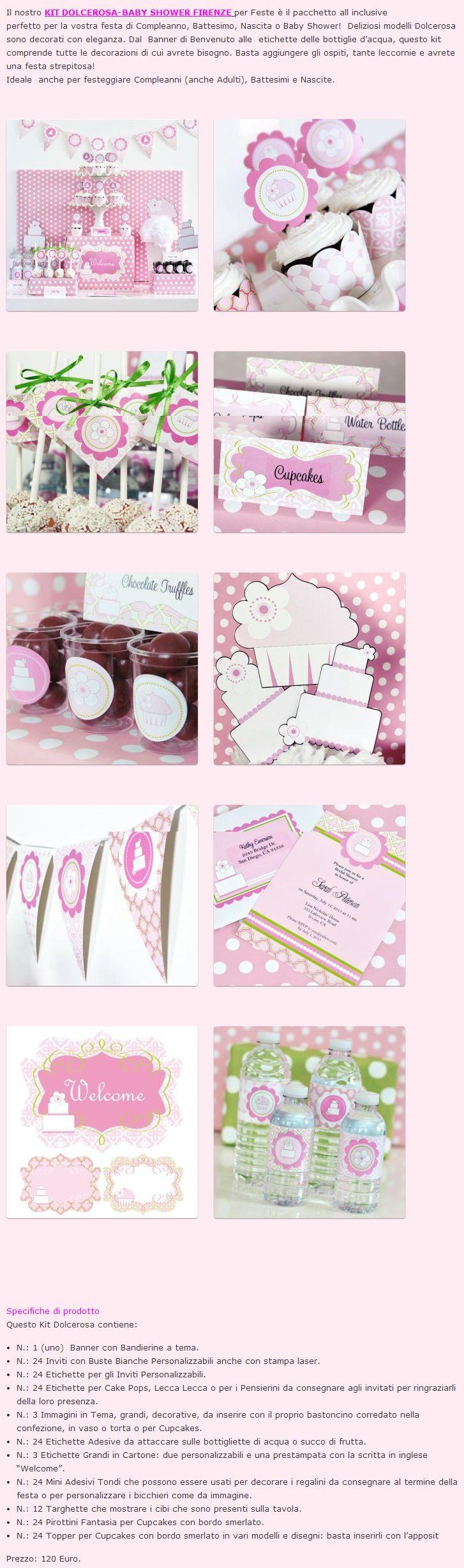 Kit Feste Dolcerosa...c'è qualcosa di più rosa e più dolce? #kitdolcerosa #dolce #rosa #dolcerosa #kitfeste #festa #adulto #bambino #babyshower #compleanno #nascita #battesimo #bimba