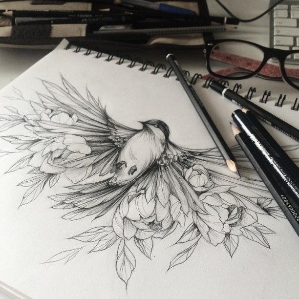 """5,695 Likes, 5 Comments – Tattoo Pins on Instagram: """"Drawing by Olga Koroleva"""""""