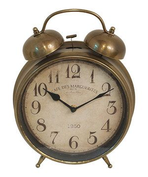 Look what I found on #zulily! Rustic Alarm Clock by Three Hands Corporation #zulilyfinds