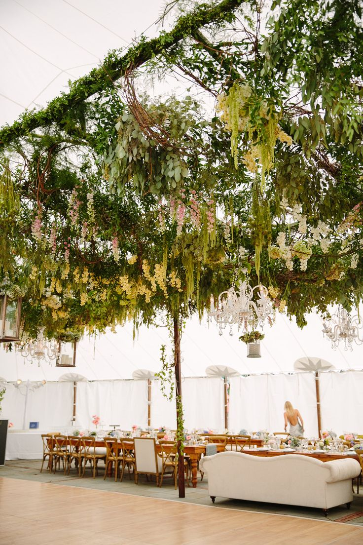 Incredible Ceiling #Canopy INSIDE the tent! Event Planning by #ColinCowie   Tory Williams Photography   See more on #SMP Weddings -  http://www.stylemepretty.com/2014/01/09/colin-cowie-wedding-in-buttermilk-falls/