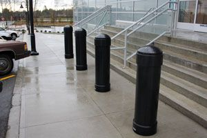 Bollards are those often-unnoticed steel posts that can be seen in retail parking lots where they protect pedestrians and prevent theft.