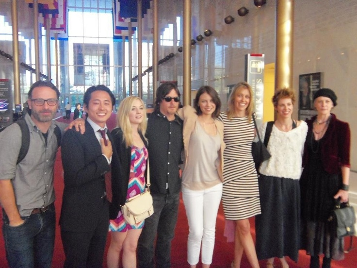 The Walking Dead Family @ Kennedy Center-----DYING @ nerdy little freaking Andrew Lincoln.