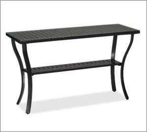 Black Aluminum Console Table