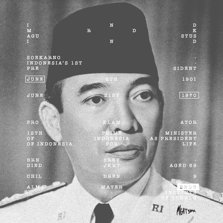 Short desc. about Indonesia's first President , Ir. Soekarno