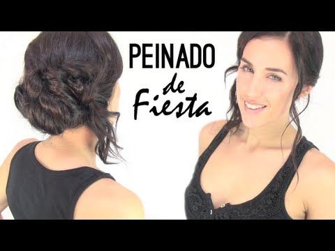 Peinado de fiesta paso a paso. Cute easy hairstyle for any party occasion.