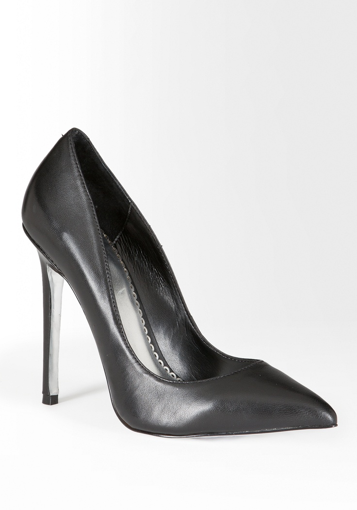 bebe Classic Leather Pump #outfitinspiration