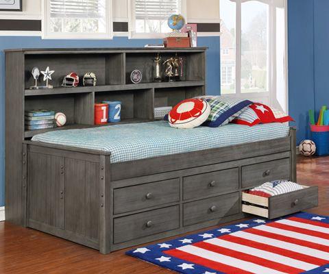 Twin Sideways Bookcase Bed