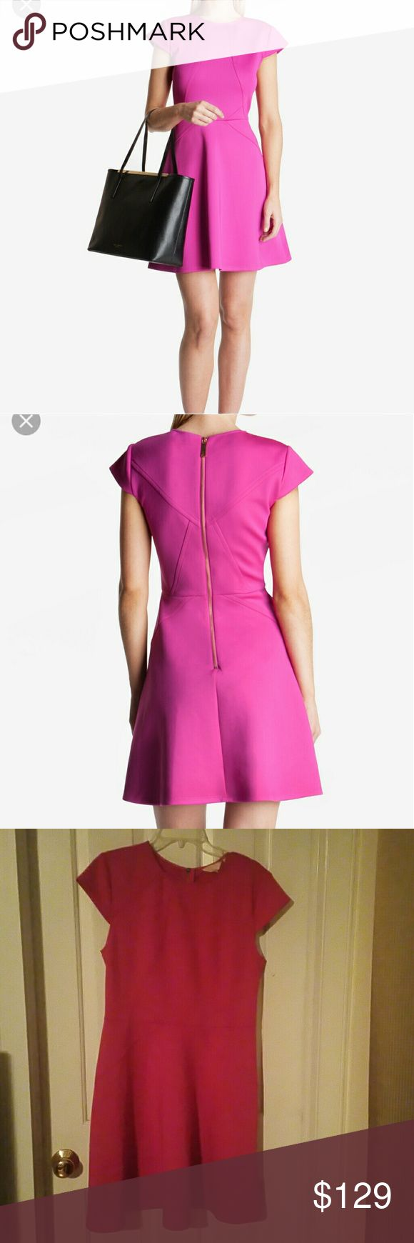 NWT Ted Baker Skater dress Name of color is Purple, but it looks more like a fushia. Ted Baker Dresses