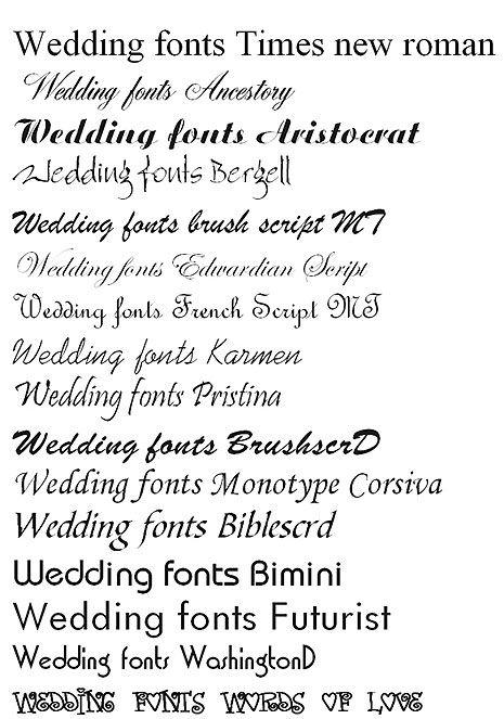 Best Fonts For Wedding Invitations   Wedding Design Ideas