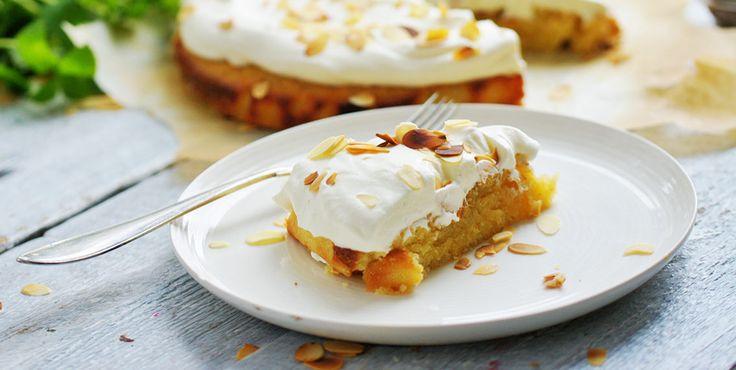 Denne kage har en fin smag af kardemomme og mandel og er hurtig og enkel at bage!