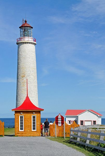 Lighthouse at Cap d'Espoir, Gaspé, Quebec