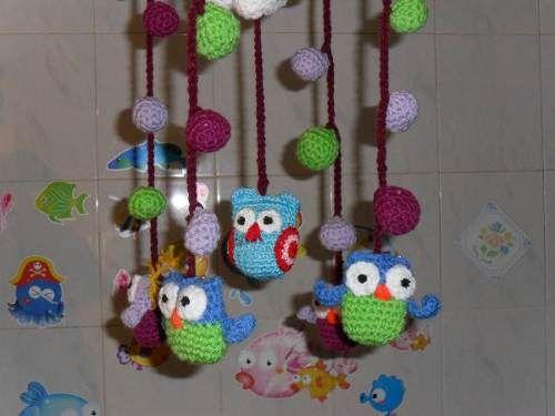 Colgantes Para Cuna A Crochet Lindos Peces Pulpo Buhos (Colgantes y Móviles) a ARS 100  en  PrecioLandia Argentina (7xrbyo)