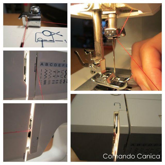 Enhebrar la máquina de coser silvercrest