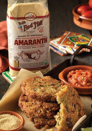 Discovering Ancient Grains: What is Amaranth? - Food Matters - Mother Earth Living Ingredients: • 1 cup amaranth • 2 tablespoons diced onion • 1 clove garlic, minced • 1/2 teaspoon sea salt • 1-1/2 cups vegetable stock • 1 egg • 2 tablespoons unbleached white • Flour • 1 tablespoon chopped basil • Oil, to fry