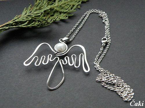 Andělíček + řetízek z nerezu