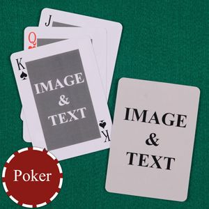 Classic Custom Front and Back Use as a guest book - Mexican Poker deck.