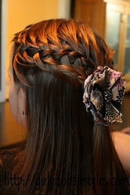waterfall braid and weave