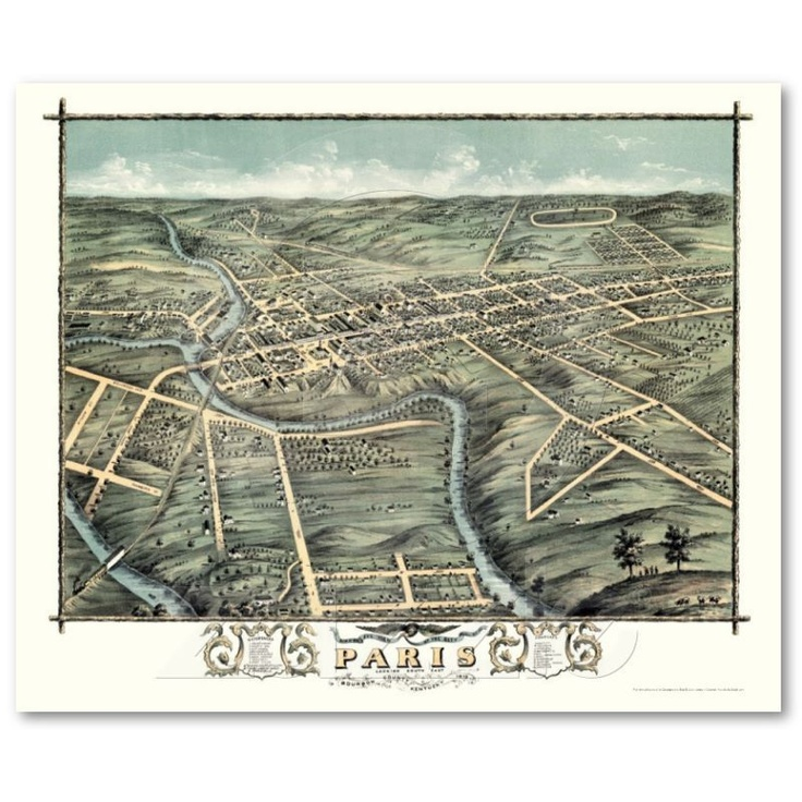 paris ky map the year before