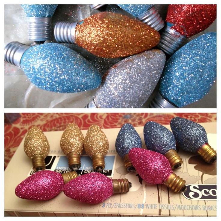 Sparkly Christmas bulbs