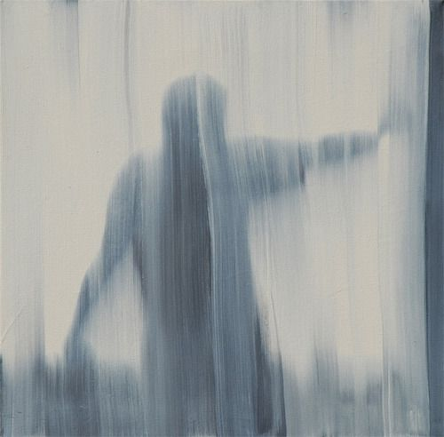 "Rafał Bujnowski, Curtain"", 2007 oil on canvas, 45x45cm"