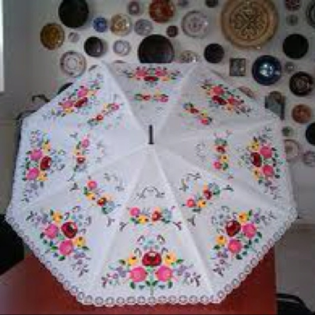 And the original embroidery